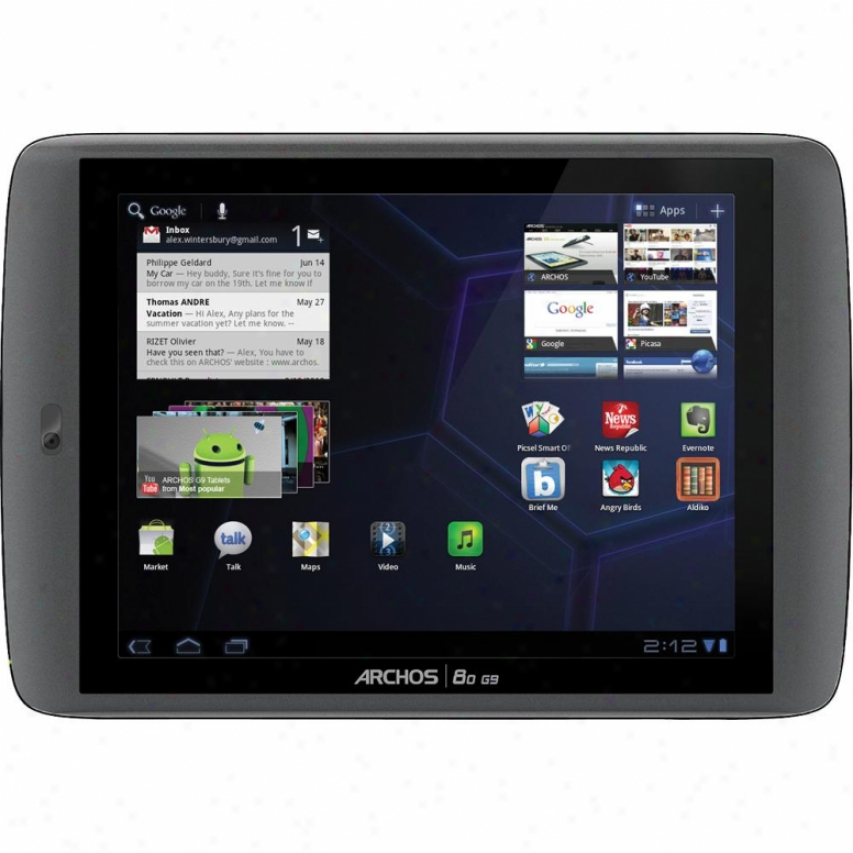 """Archos 80 G9 Turbo 250gb 8"""" Multitouch Screen Android Tablet"""