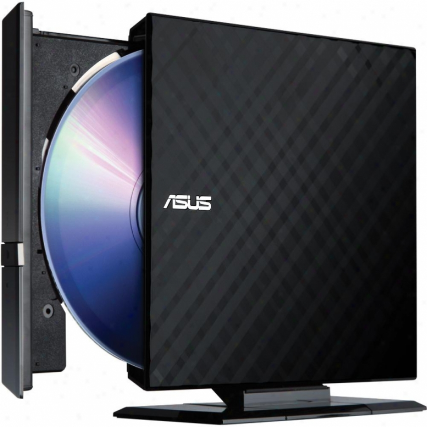 Asus Sdrw-08d2s-u/bg//aci/as Usb 2.0 8x External Slim Dvd Writer Drive - Black