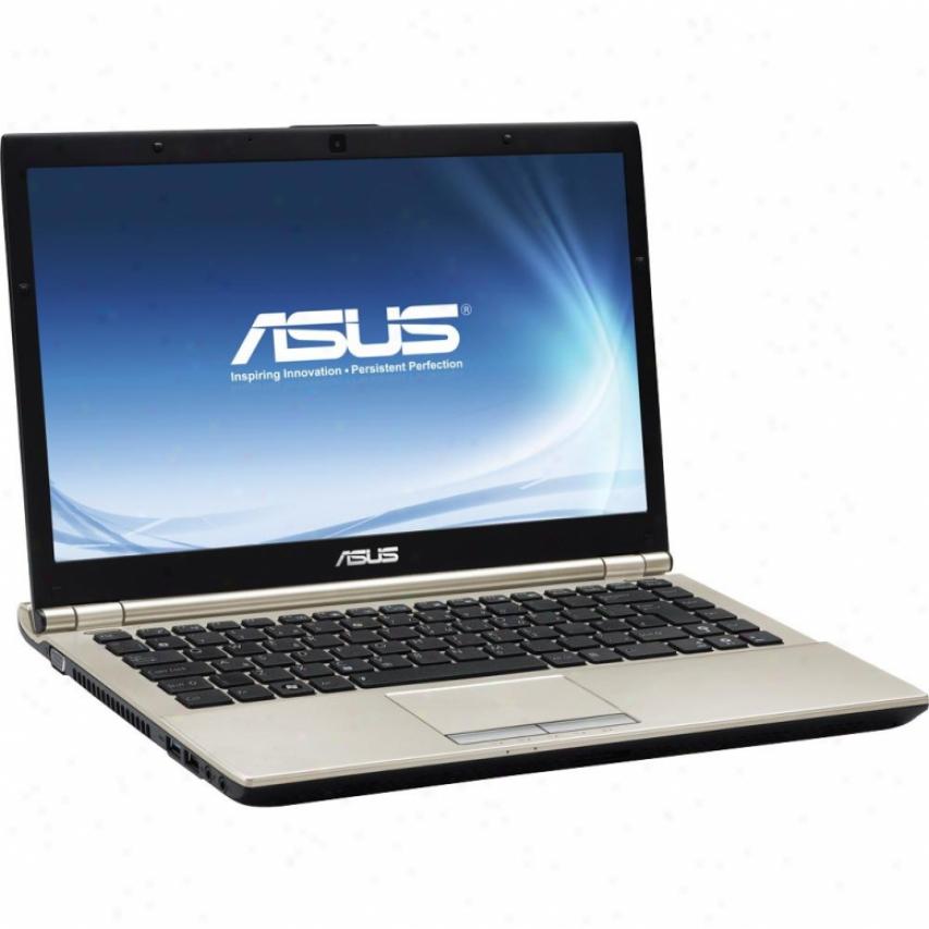 """Asus U46e-xh51 14.1"""" Ultra Slim Notebook Pc - Brushed Champagne"""