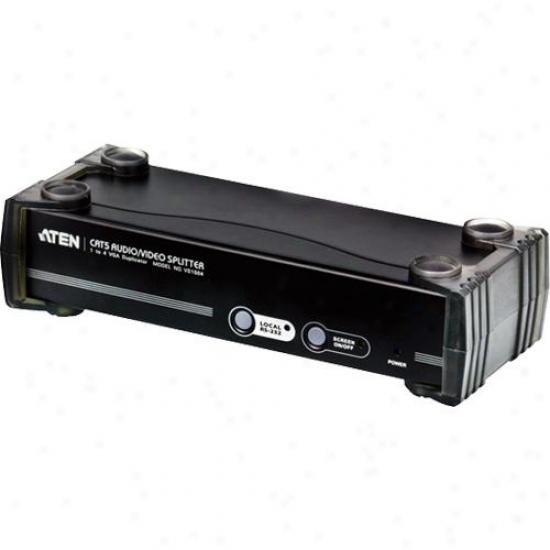 Aten Corp 4-port Cat 5 Audio/video Splitter - Vs1504t