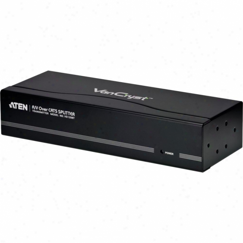 Aten Corp 8-port A/v Over Cat 5 Splitter - Vs1208t
