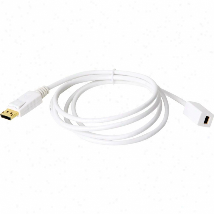 Atlona 6-foot (2-meter) Male Displayport To Fsmale Mini Displayport Cable