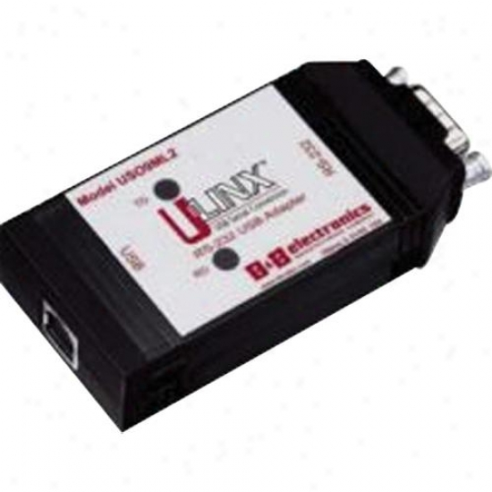 Optically Isolated RS-232 Allows RS-232 device to connect to a USB