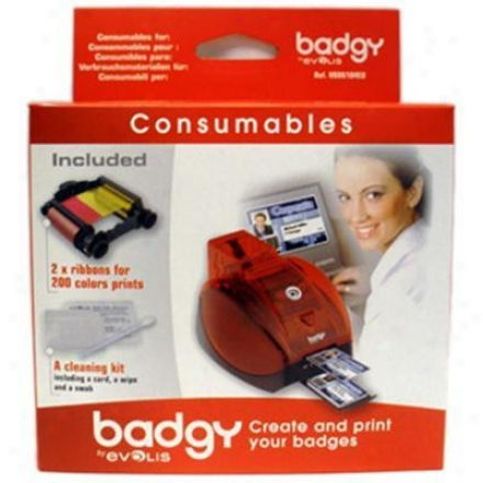 Badgy 2 Color Ribbon Pack