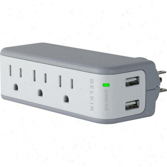 Belkin Bz103050tvl Mini Surge Protector And Usb Charger