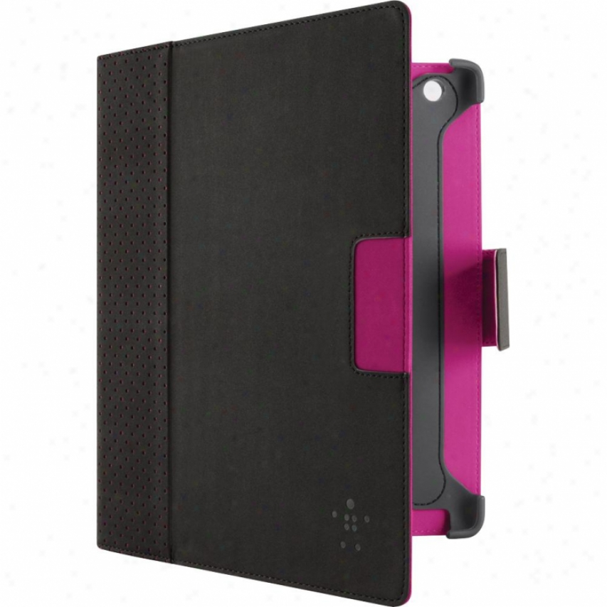 Belkin Cinema Dot Folio With Stand For New Ipad 3 Black/purple F8n773ttc01