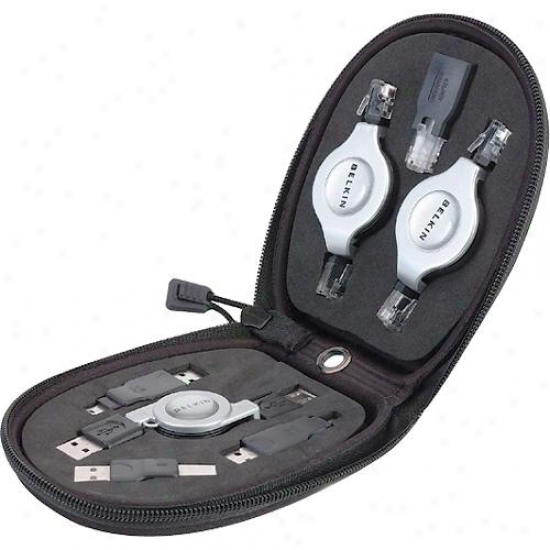 Belkin F3x1724 7 In 1 Retractable Cable Travel Pack