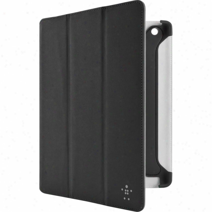 Belkin Pro Color Duo Tri-fold Case With Stand oFr New Ipad And Ipad 2 - Black