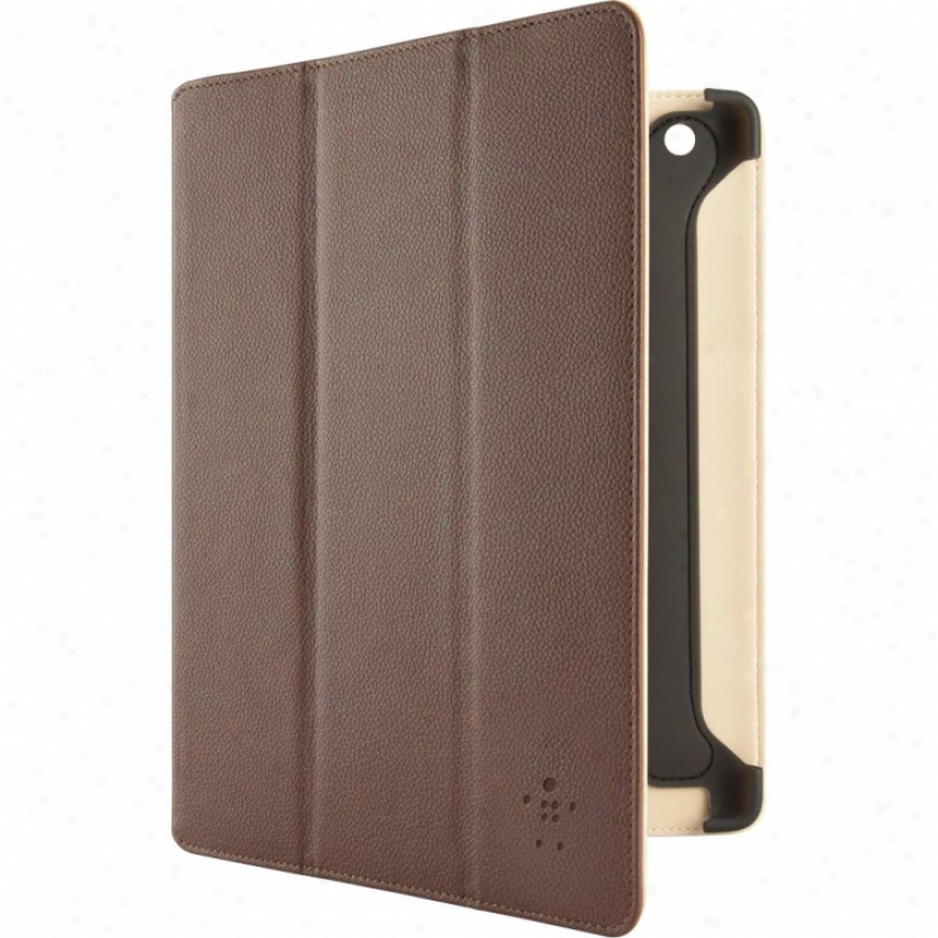 Belkin Pro Tri-fold Case With Stand For New Ipad And Ipad 2 - Brown