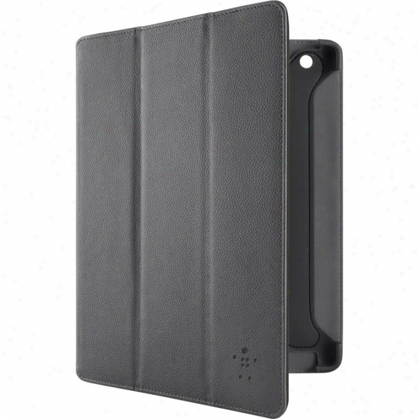 Belkin Tri-fold Case With Stand For New Ipad And Ipad 2 - Black