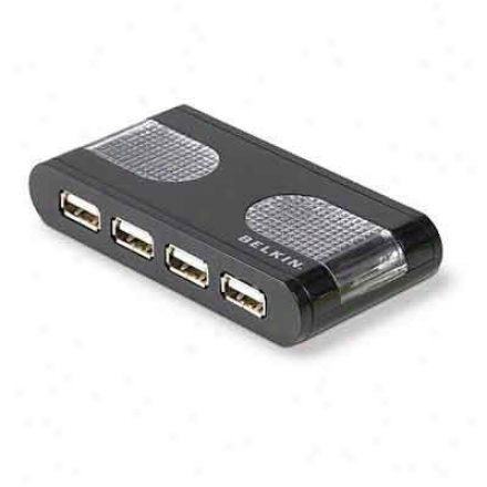 Belkin Usb 2.0 7-port Lighted Hub Blk