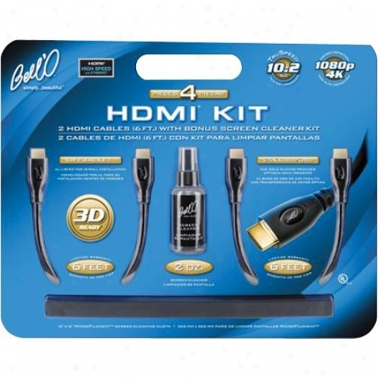 Bell'o 2 Hxmi Cables With Bonus Screen Cleaner Kid Hdk2612
