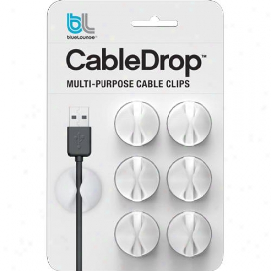 Bluelounge Design Cabledrop Cable Management System - White