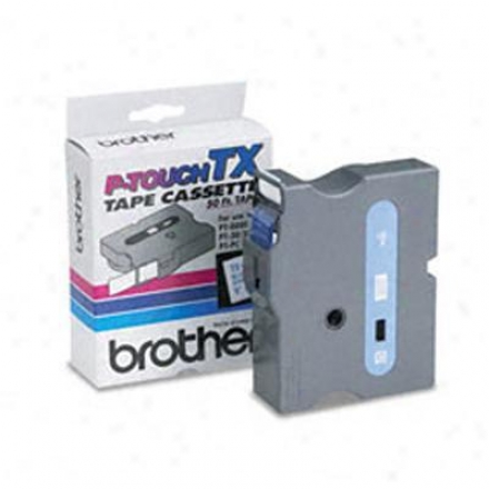 "Brother 1"" Blue On White"