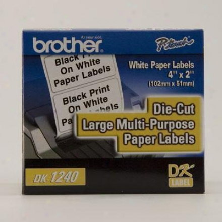 "Brother 4"" X 2"" Paper Labels (60)0"