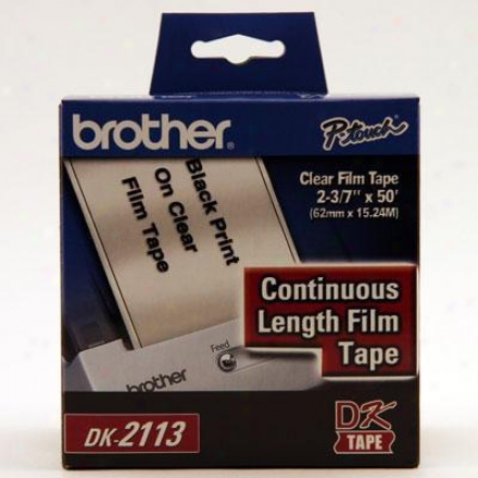 Brother Cont Film Label Blk/clear