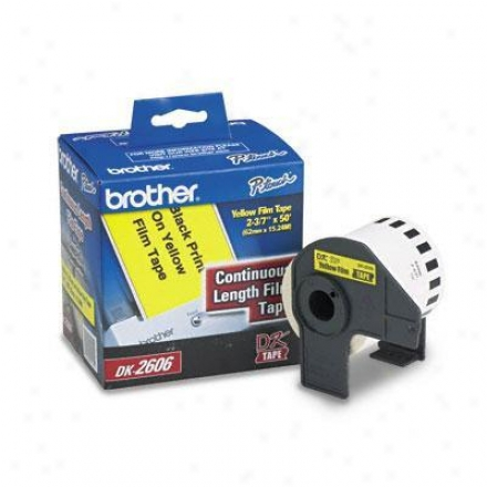 Brother Cont Film Label Blk/yellow