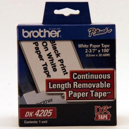 Brother Cont Removable Paper Label