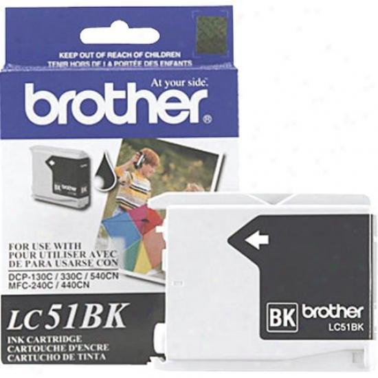 Brother Lc51bk Dark Ink Cartridge For Inkjet Printers