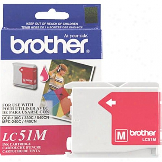 Brother Lc51m Magenta Ink Cartridge For Inkjet Printers