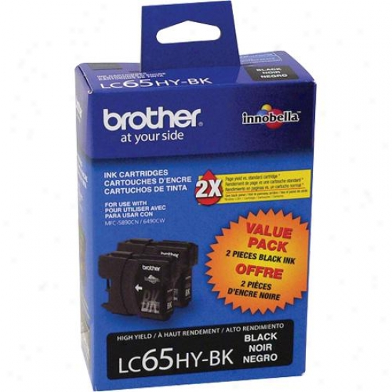 Brother Lc652pks High Product Black Ink Cartridge - 2 Pack
