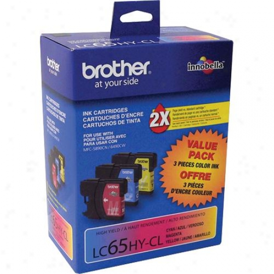Brother Lc653pks C/m/y Color Ink Cartridge,s 3/pack