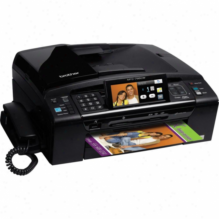Brother Mfc-795cw Color Inkjet All-in-oe With Wireless Networking