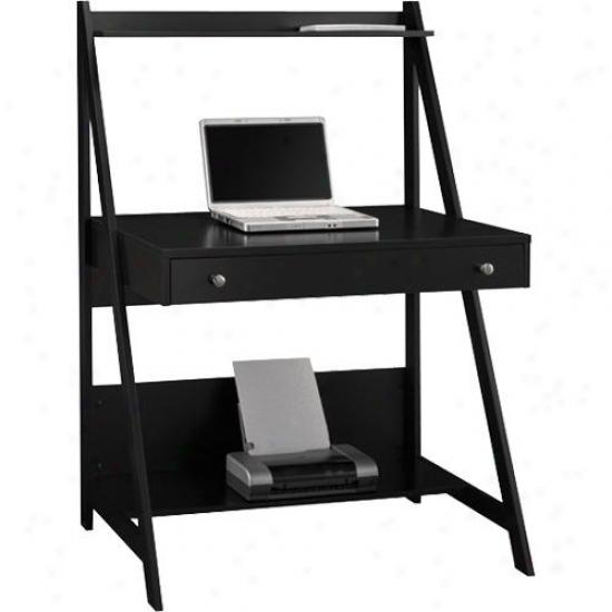 Bush Ind. My72701-03 My Space Easy Alamosa Ladder Desk - Black