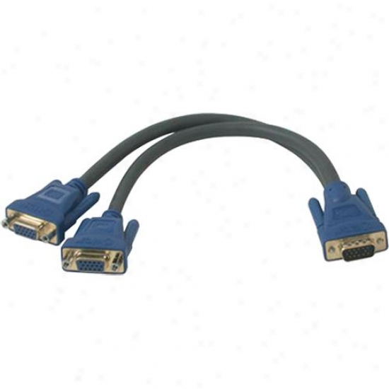 Cables To Go Ultima One Hd15 Male To Two Hd15 Female Sxga Monitor Y-cable 29610