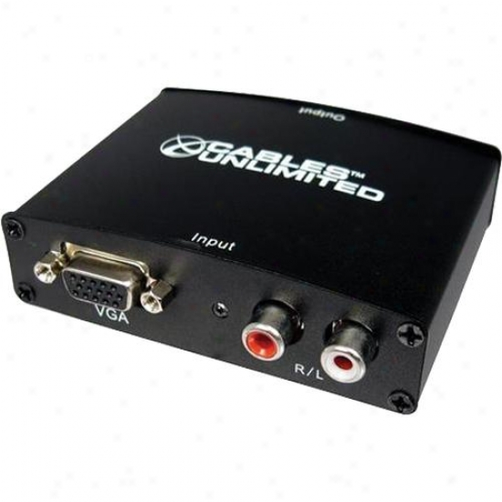 Cables Unlimited Open Box Pro A/v Series Vga And Stereo Audio To Hdmi