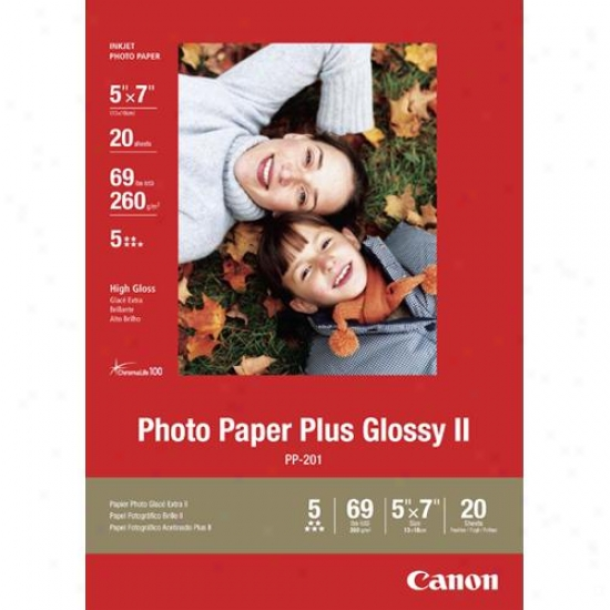Canon 2311b024 5x7 Photo Paper Plus Glossy Ii Vivid Colors & High-quality Finish