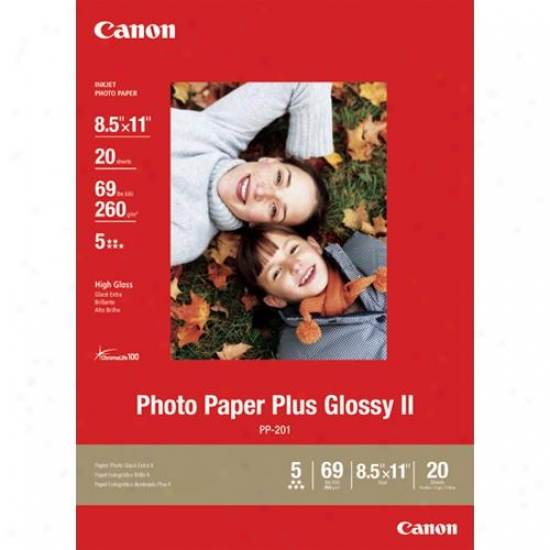Canno 8.5x11 Photo Paper Plus Glossy Ii Vivid Flag With High-q8ality Finish