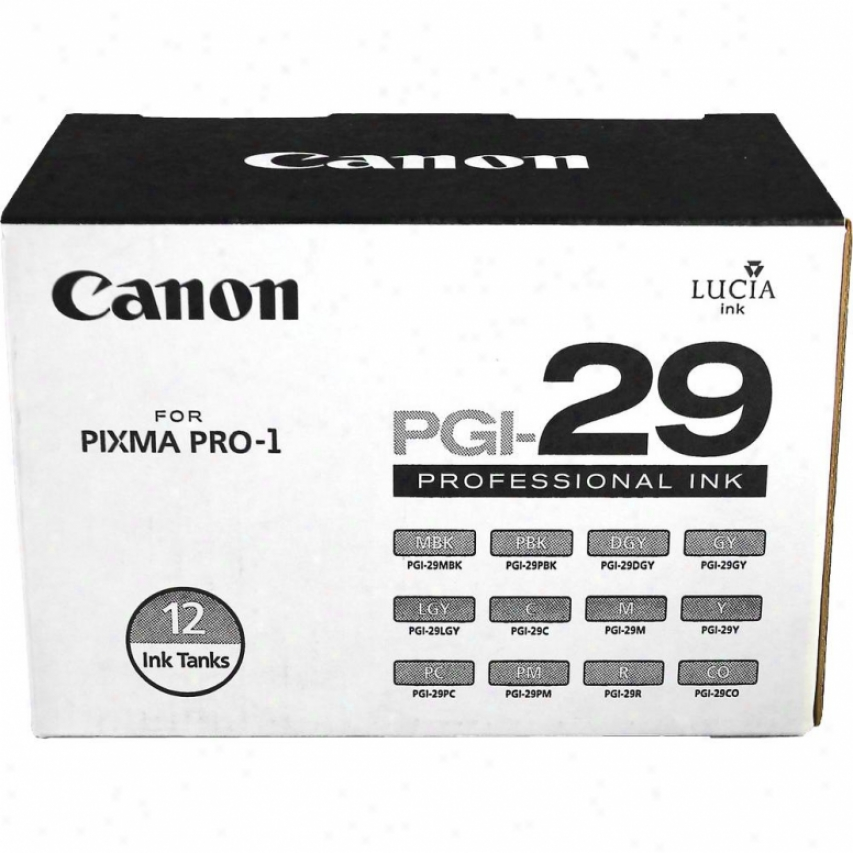 Canon Pgi-29 Lucia Series Color & Monochrome Ink Tanks - Twelve Pack