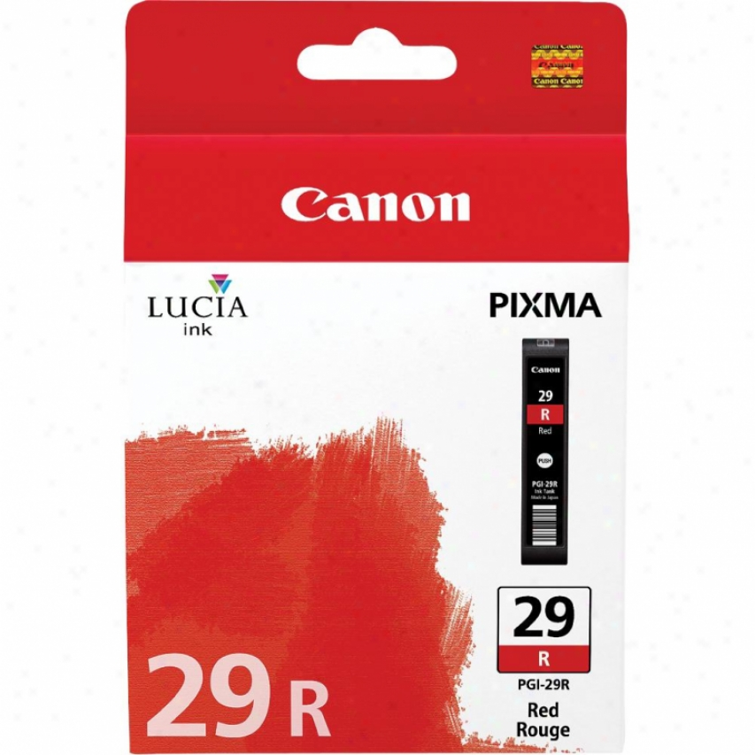 Cankn Pgi-29 Lucia Series Red Ink Cartridge