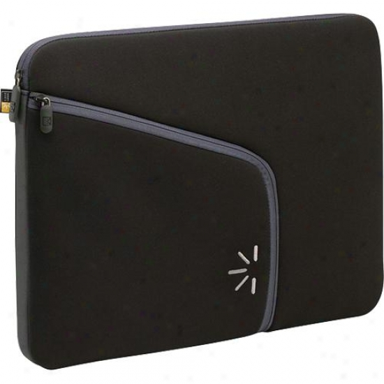 "Case Logic Pls13black 13"" Sleeve With Power Pocket Suede Lining - Black"