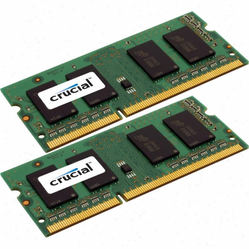 Crucial 16gb (2 X 8gb) Ddr3-1600 204-pin Sodimm Memorial - Ct2kit102464bf160b