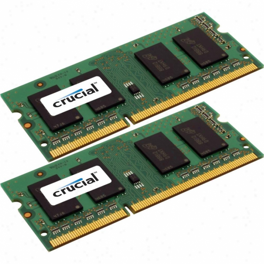 Crucial 16gb (8gb X 2) 204-pin Sodimm Ddr3 Notebook Memorial - Ct2kit102464bf1339