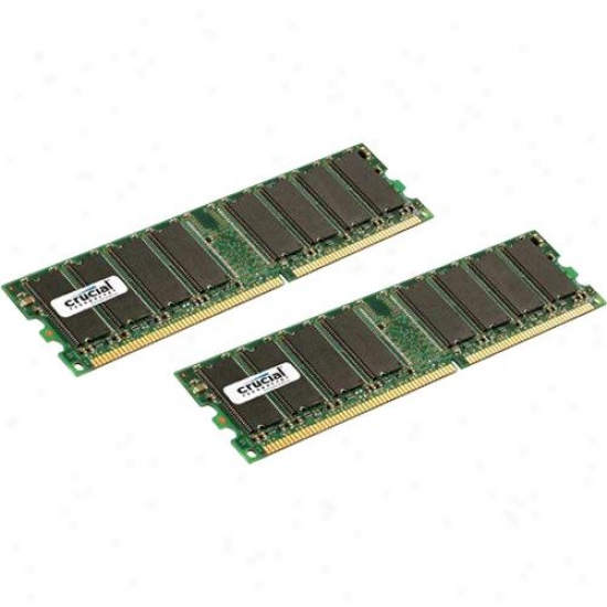 Crucial 2kt12864z40 2gb Kit (1gbx2), 184-pin Dimm, Ddr Pc3200 Memory Module