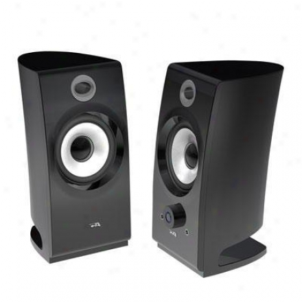 Cybed Acoustics 2.0 Black Prdestal Speakers