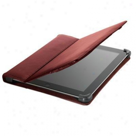 Cyber Acoustics Leather Ipad 2 Cover/case - Red - Ic-1002