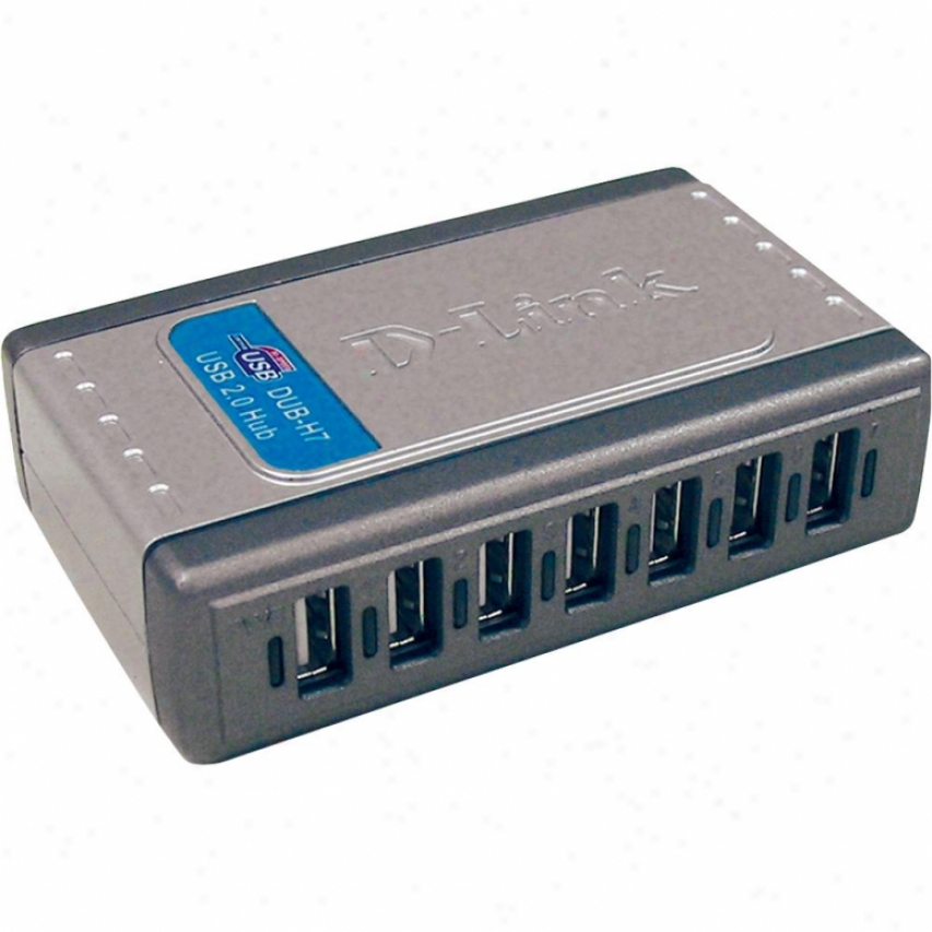 D-link Dub-h7 7-port High Speed Usb 2.0 Hub