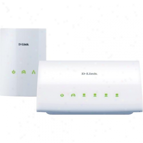 D-link Powerline Av 4-port Switch Starter Kit - Dhp-347av