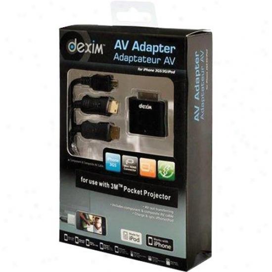 Dedim A/vA dapter For 3m Pocket Projector - Dwa047