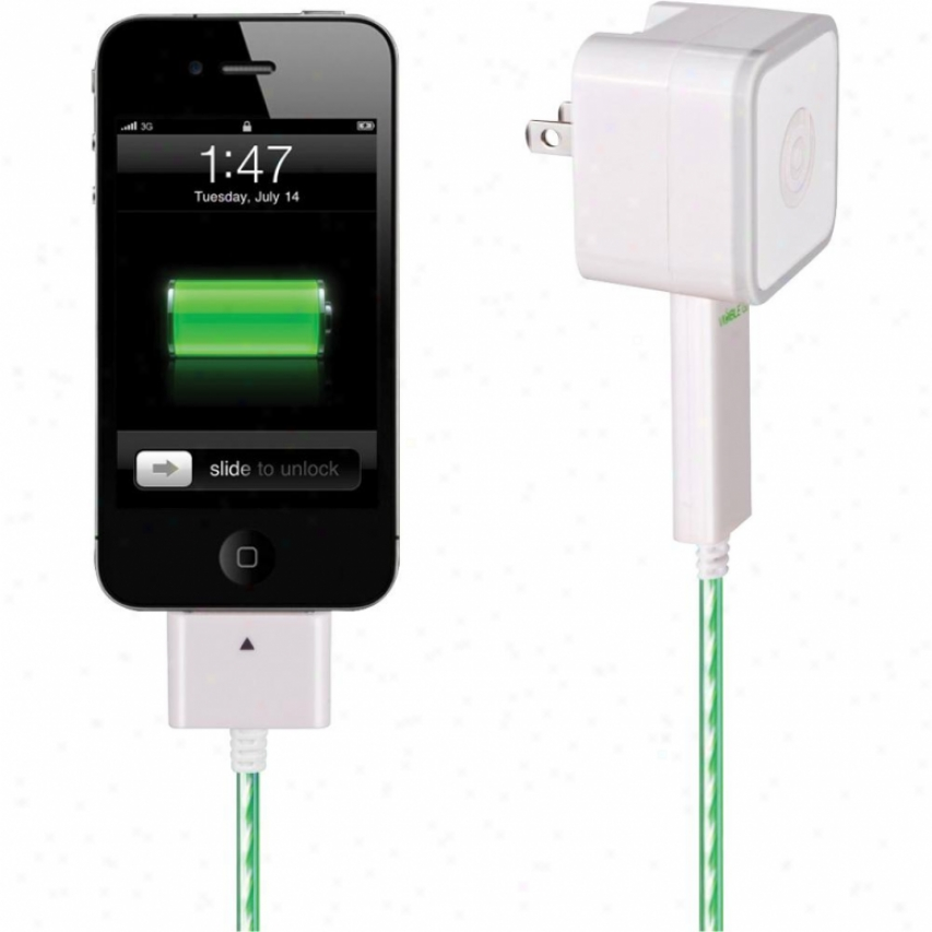 Dexim Visible Smart Green Charger (charge & Sync) For Ipad/iphone/ipod 2.1a