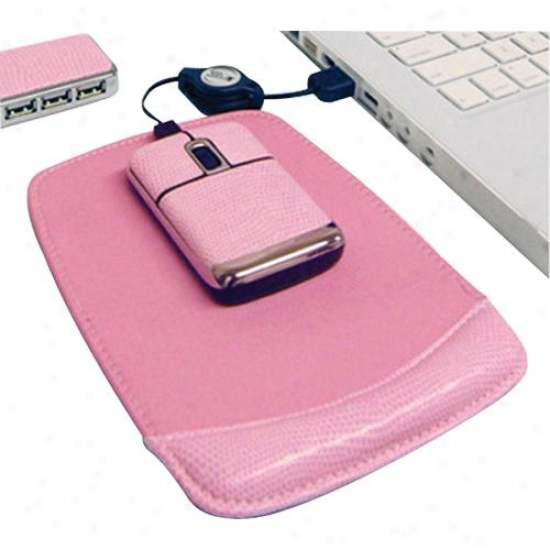 Digipower Solutions Pink Notebook Mouse Kit