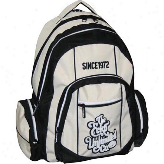 """Ecko 15.4"""" Laptop Backpack Eck0503749 - Beige/black"""