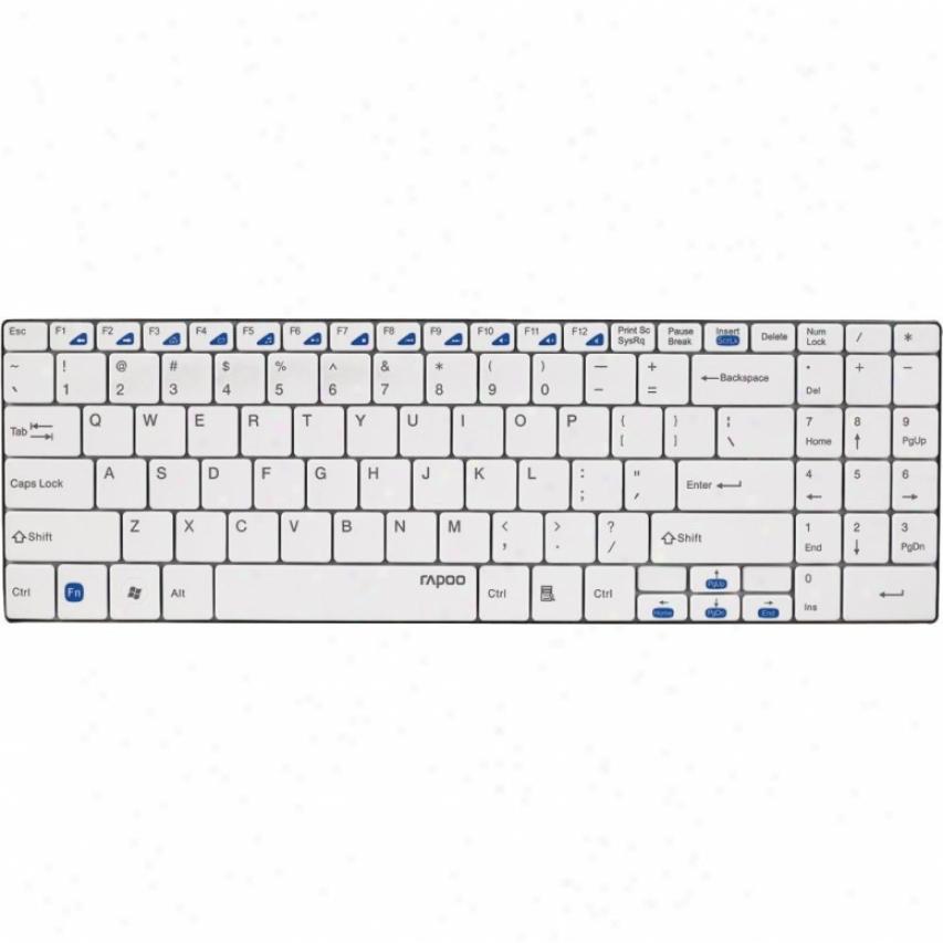 Elco Wireless 2.4 Ghz Wireless Keyboard - White