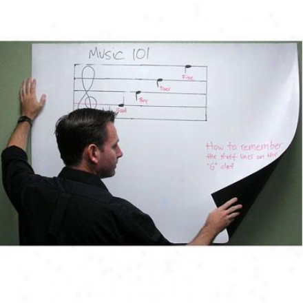 "Elitescreens 63"" Self-adhesive Dry Erase Wh"