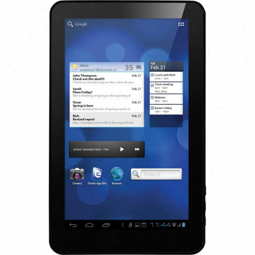 "Ematic Eglide Xl Prro Ii 10"" Capacitive Screen Android Tablet"