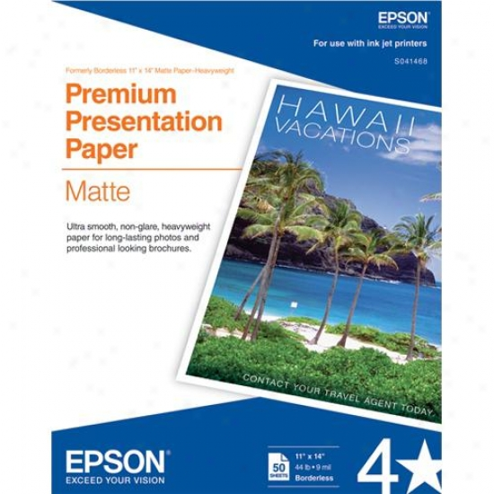 "Epson 11"" X 14"" Heavyweight Paper (50-pack)"